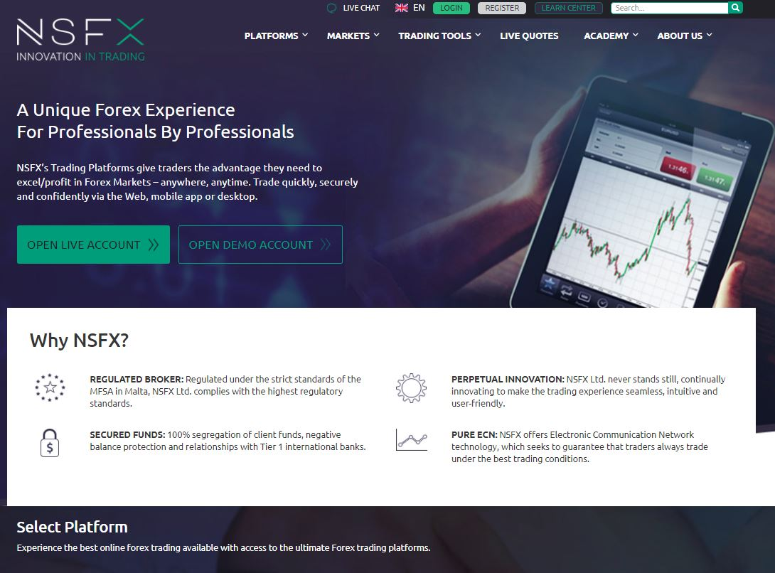 NSFX best forex demo