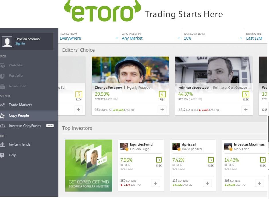 etoro demo account review