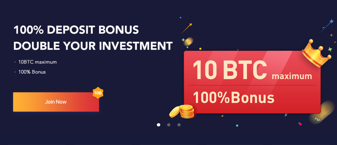 If you deposit 10 BTC, you will get 20 BTC in total