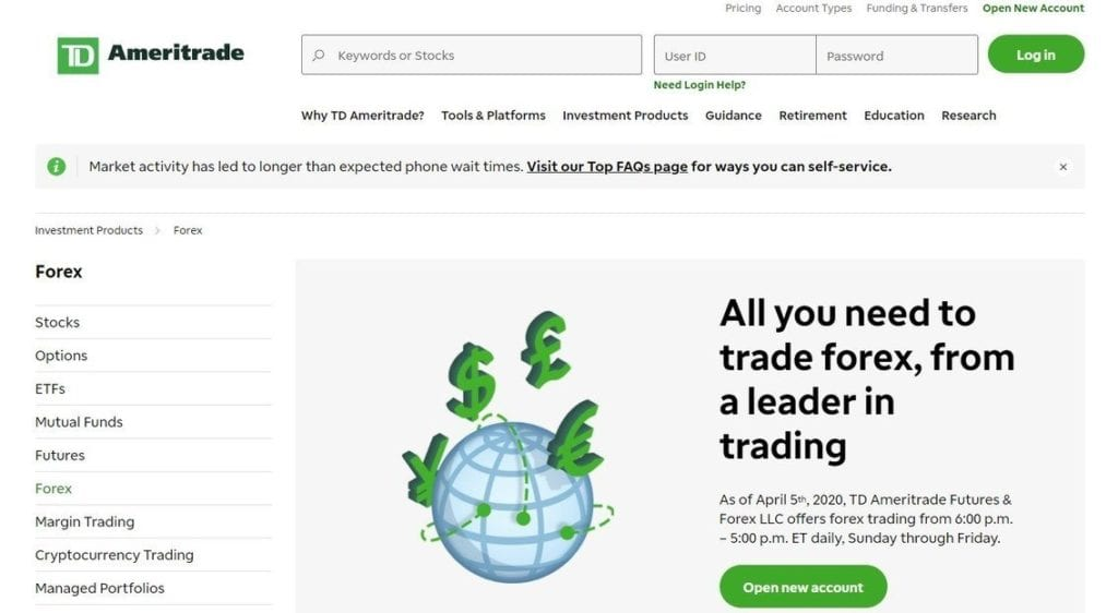 Forex.com Forex Trading Page